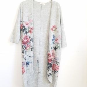 GINGER G CARDIGAN OPEN FRONT PRINTED SIZE L